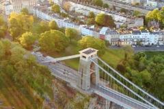 Suspension bridge and Sion Hill