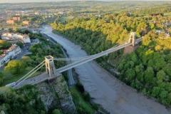 Suspension Bridge at dawn