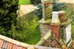View of Elizabethan chimney stack