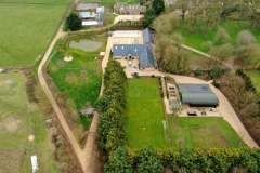 Aerial view of cotswold property